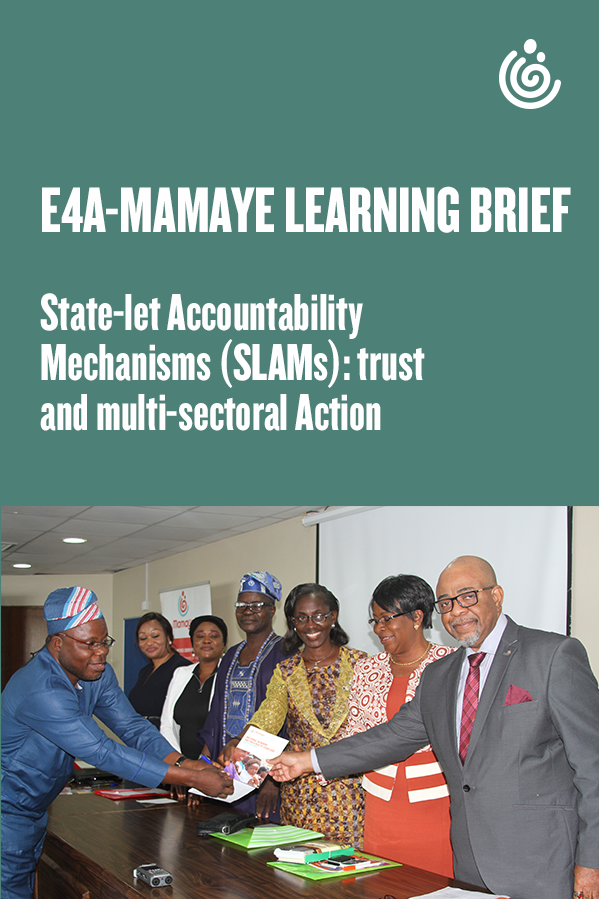 State-let Accountability  Mechanisms SLAMs trust  and multi-sectoral Action