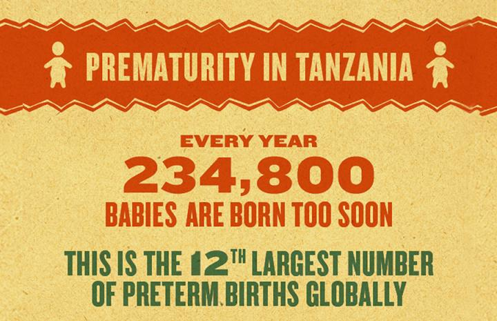 Mama Ye Infographic on Prematurity in Tanzania 2016