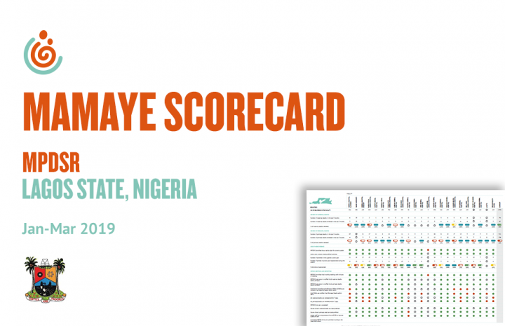 LAGOS STATE HEALTH FACILITY MPDSR SCORECARD JAN-MAR 2019